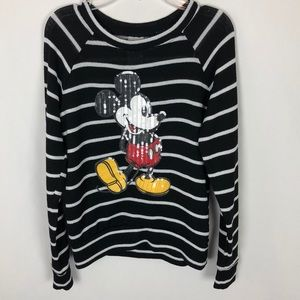 Disney striped Mickey Mouse sweater small C23